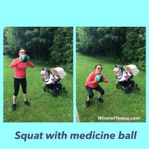 Alice squat medicine ball