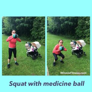 Alice squat medicine ball