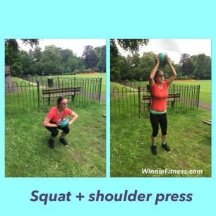 Alice squat shoulder press pt leatherhead